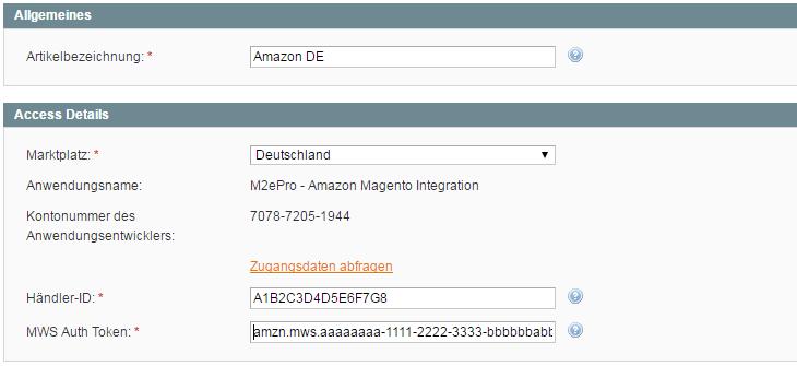 M2E Modul Magento richtig konfigurieren. Amazon Konto einrichten.