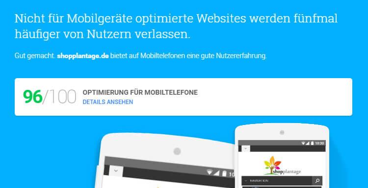 Google Tool zu Optimierung mobiler Version